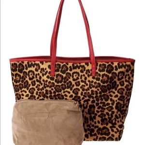 😍💥👜New💥 2 in 1 Leopard Tote w Cosmetic Bag👜